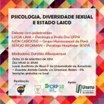 Conselho de Psicologia promove debate sobre diversidade sexual e Estado laico
