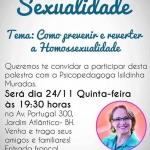 Palestra de pastora para 'prevenir e reverter homossexualidade' gera revolta